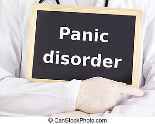 Doctor shows information: panic disorder