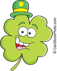 Cartoon shamrock - Cartoon illustration of a shamrock...