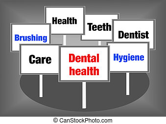 Dental health signs - Dental health concept illustration...