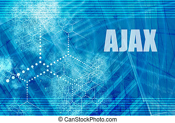 AJAX Blue Abstract Background with Internet Network