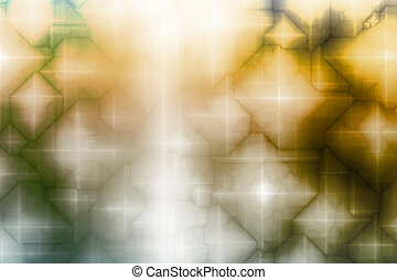 Blue Yellow Magical Fantasy Abstract Background Pattern