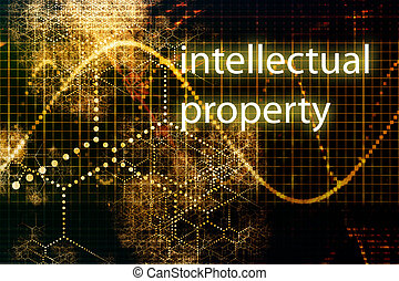 Intellectual Property Abstract Business Concept Wallpaper...