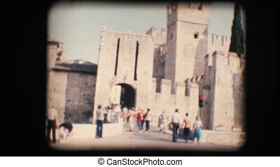 Vintage 8mm. Sirmione castle