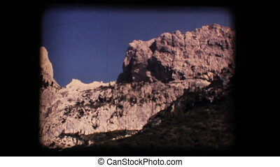Vintage 8mm. Dolomite mountains