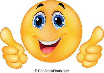 Happy Smiley Emoticon Face - Vector illustration of Happy...