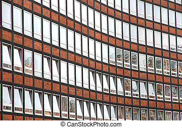 Facade in the Speicherstadt in Hamburg - Facade of a...