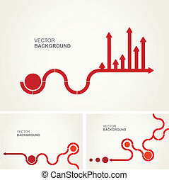 Abstract vector layout design - A set of abstract design...