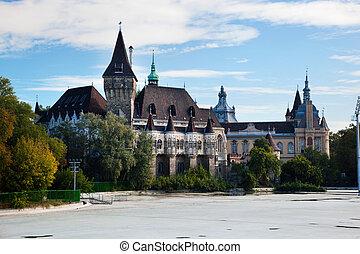 Vajdahunyad Castle, Budapest, Hungary - Vajdahunyad Castle...