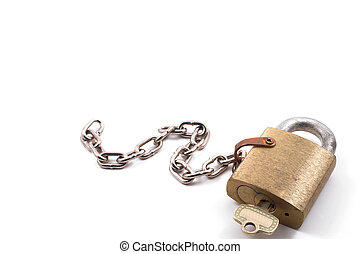 Brass Padlock - A very heavy duty industrial brass padlock