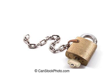 Brass Padlock - A very heavy duty industrial brass padlock