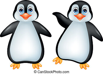 Funny penguin - Vector illustration of funny penguin