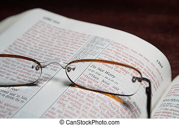 Bible Verse - Scriprure verses inside of a holy bible and...