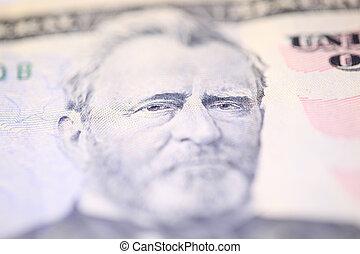 Benjamin Franklin on one hundred dollars bill.