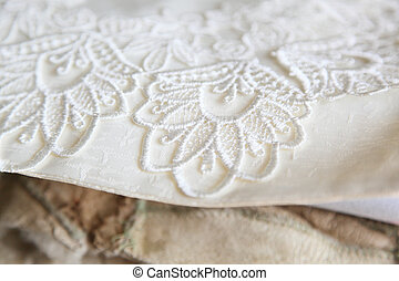 lace doily - Embroidered lace doily