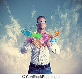 Creative business - Concept of creativity and power in...