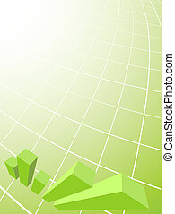 Abstract business background with 3D graph