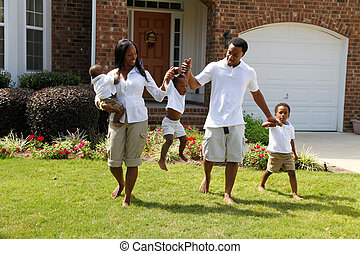 African American Family - African American family together...