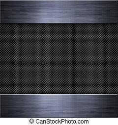 Brushed aluminum metal plate