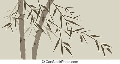 design of chinese bamboo trees, vector illustration