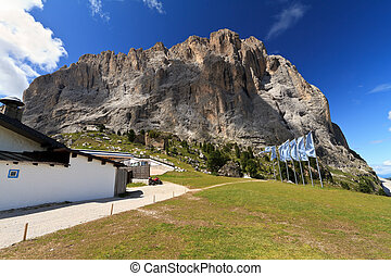 Alto Adige - Sassolungo mount - summer view of Langkofel -...