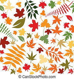 autumn leaves - Abstract floral background with autumn...