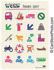 Industrial, work and repair icons