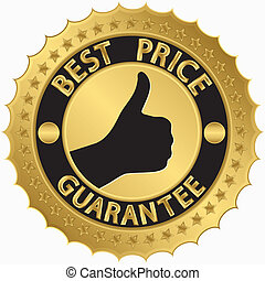 Best price guarantee golden label,