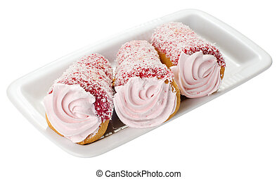 Rosa kuchen creme