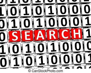 3D Word Search inside zero one blocks
