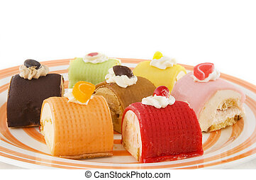 Fancy cakes - tasty fancy cakes in different colors