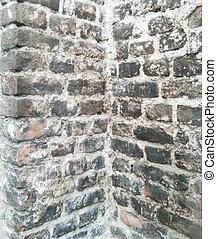Wall of brick