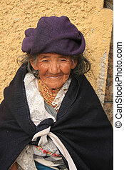 Old Woman Begging in Cotacachi