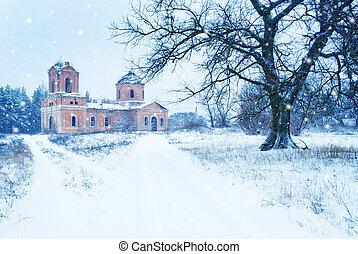 Old church in vilage