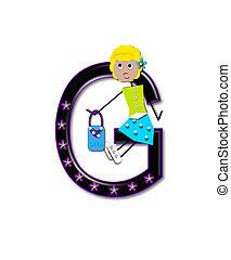 Alphabet Diva Dolly G - The letter G, in the alphabet set...