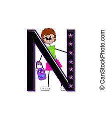 Alphabet Diva Dolly N - The letter N, in the alphabet set...