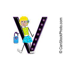 Alphabet Diva Dolly V - The letter V, in the alphabet set...