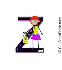 Alphabet Diva Dolly Z - The letter Z, in the alphabet set...