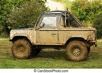 Dirty weekend - An off road vehicle is in need of a wash