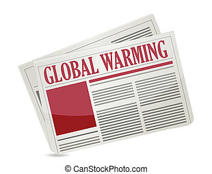 "A newspapers with headline ""Global Warming"""