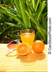 Oranges with orange juice