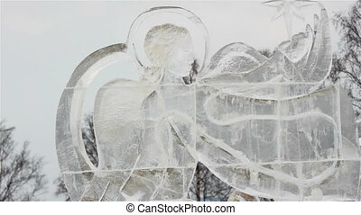 Ice sculptures in Petrozavodsk, Russia - Ice sculptures made...