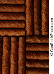Cigars - Pattern of cigars arranged next to each others