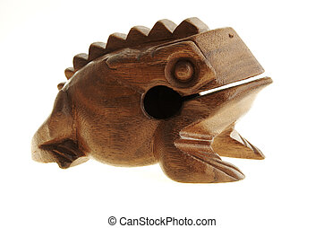 Figurine of a frog from the tree.