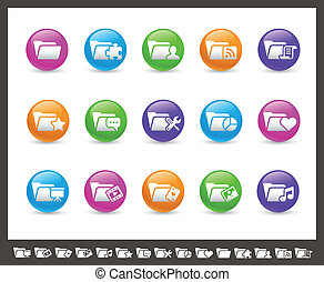 Folder Icons - 2 of 2 Rainbow Se - Vector icons for your web...
