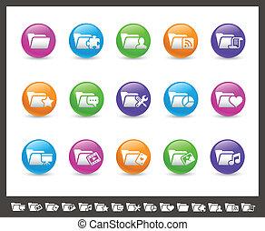 Folder Icons - 2 of 2 // Rainbow Se