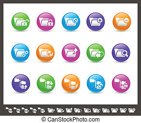 Folder Icons - 1 of 2 // Rainbow Se