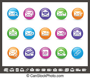 E-mail Icons // Rainbow Series