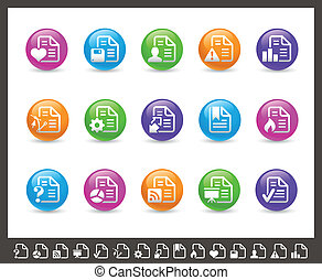 Documents Icons - 2 of 2 Rainbow - Vector icons for your web...