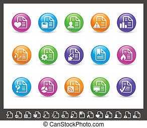 Documents Icons - 2 of 2 // Rainbow