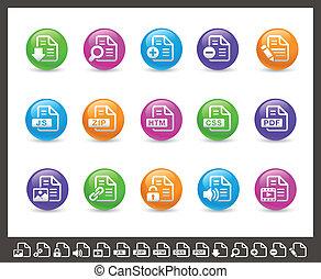 Documents Icons - 1 of 2 // Rainbow